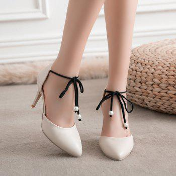 Tie Up Beads Pumps