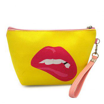 Print Funny Wristlet Clutch Bag - YELLOW YELLOW
