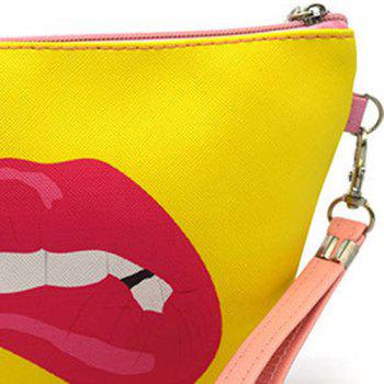 Print Funny Wristlet Clutch Bag -  YELLOW