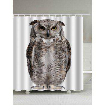 Digital Owl Art Waterproof Shower Curtain