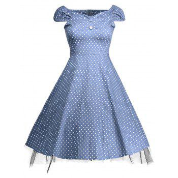 Polka Dot Print Swing Vintage Dress
