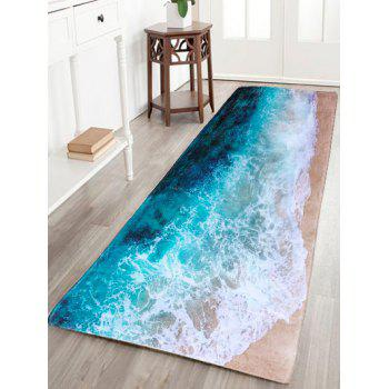 Sea Beach Print Flanel Skid Resistance Water Absorb Carpet