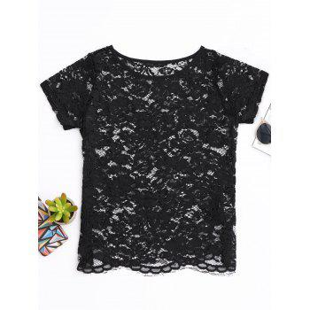 Scalloped Laser Cut Lace Top