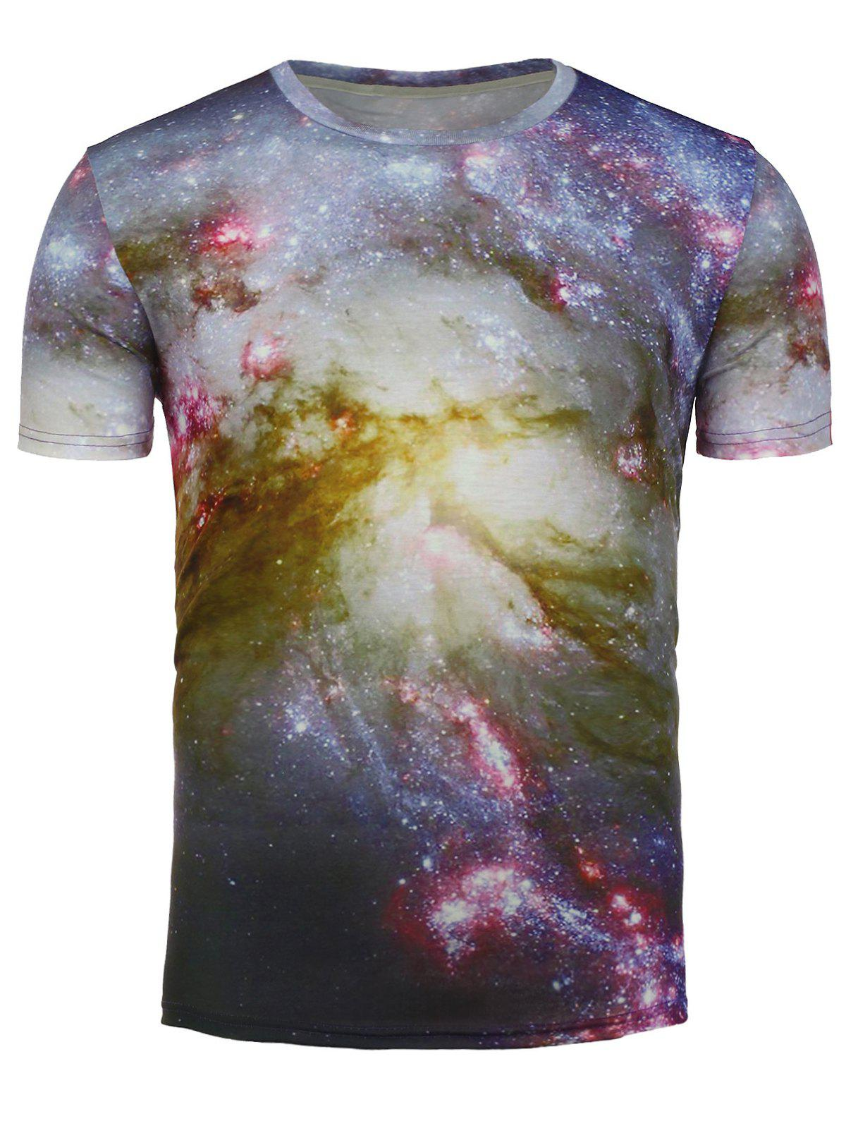 T-shirt imprimé à manches courtes Univers 3D Galaxy - multicolorcolore L