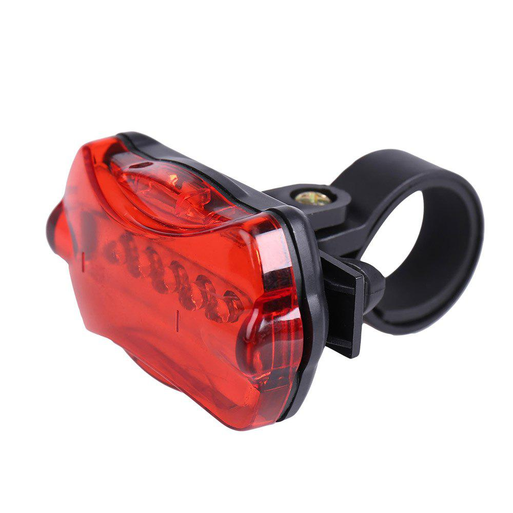 Flashlight 5 LED Butterfly Taillight and Cycling Lamp Clip Set - BLACK