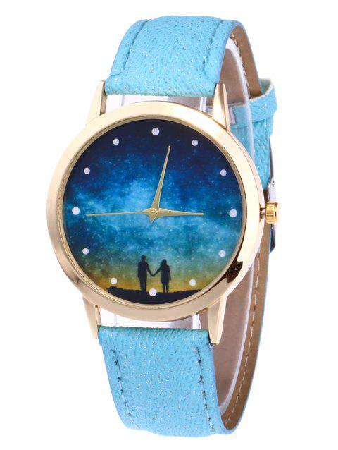 Glitter Strap Starry Sky Watch - AZURE