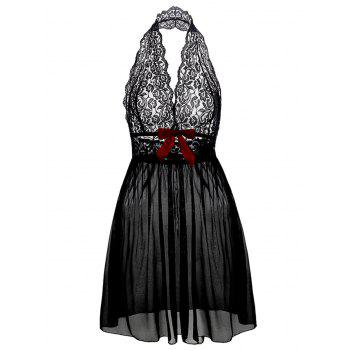 Halter Lace Babydoll plus Taille
