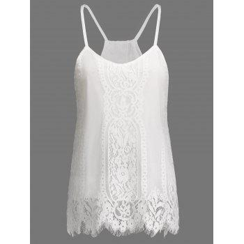 Spaghetti Strap Eyelash Lace Top