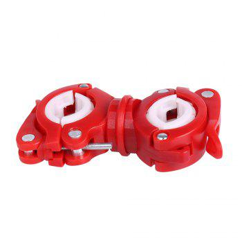 360 Degree Ratation Multifunction Bicycle Lamp Holder -  RED/WHITE