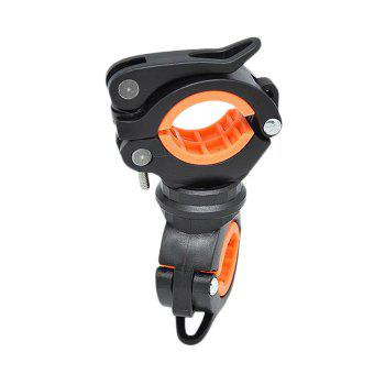 360 Degree Ratation Multifunction Bicycle Lamp Holder - BLACK AND ORANGE BLACK/ORANGE