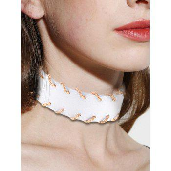 Alloy PU Leather Choker Necklace