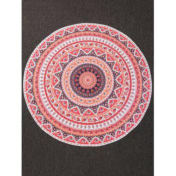 Colorful Imprimer Plage ronde Throw Cover - multicolorcolore ONE SIZE