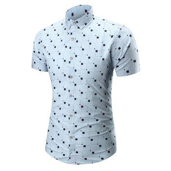 Square Printed Short Sleeve Shirt