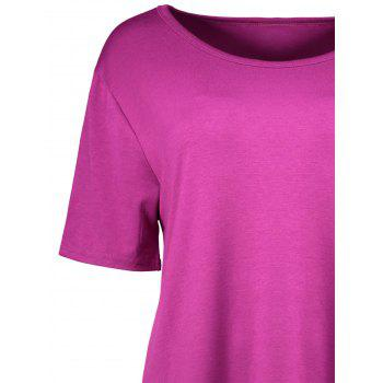 Plus Size Colorblock Mini A Line T-Shirt Dress - 5XL 5XL