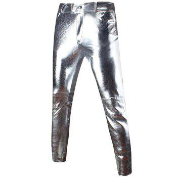 Skinny Zipped Faux Leather Pants