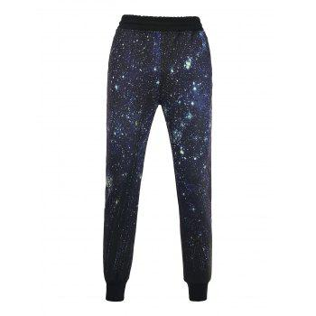 3D Galaxy Print Beam Feet Jogger Pants