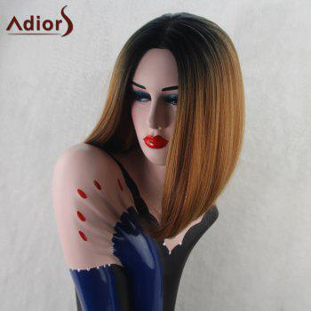 Adiors Medium Straight Bob Middle Part Gradient Synthetic Wig