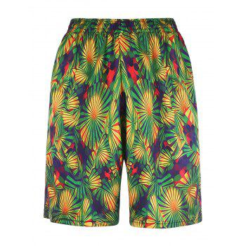 Straight Leg 3D Floral Print Board Shorts