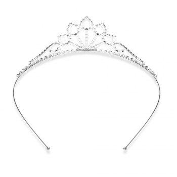 Gorgeous Rhinestone Water Drop Crown For Women - SILVER