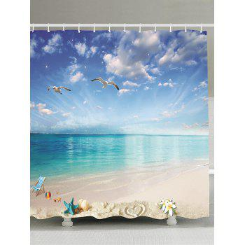 Beach Landscape Waterproof Fabric Shower Curtain
