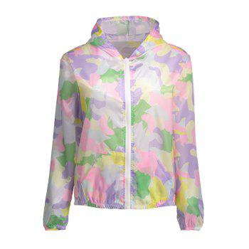 Hooded Camouflage Sun Protection Skin Windbreaker