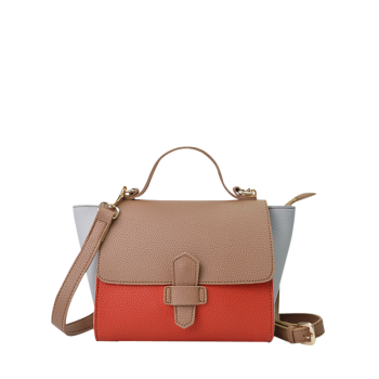 Winged Color Blocking Handbag