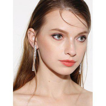 Strip Rhinestone Drop Earrings