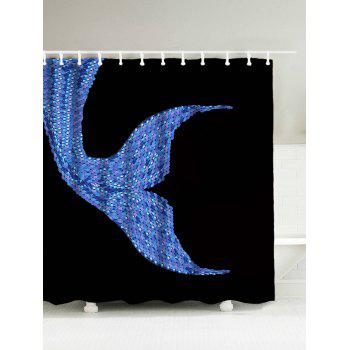 Mermaid Sequins Waterproof Polyester Shower Curtain with Hooks