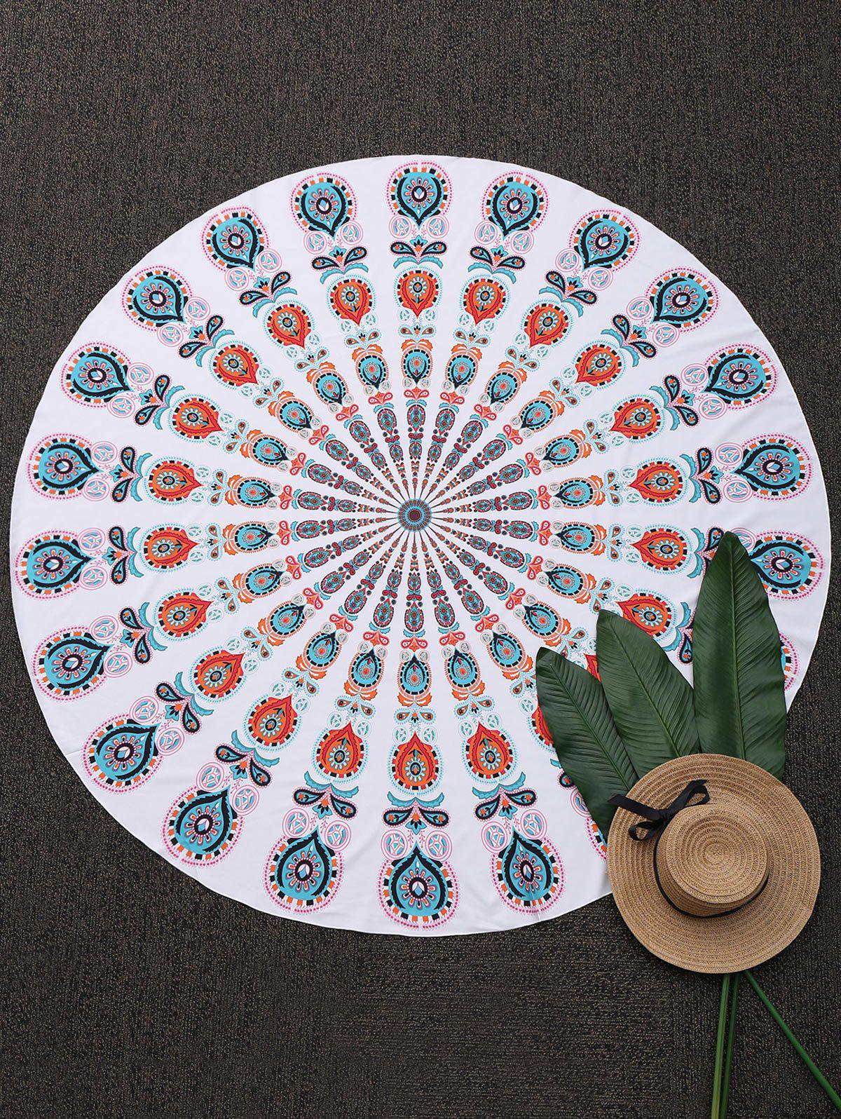 Tribe Printed Round Beach Throw Cover - COLORMIX ONE SIZE