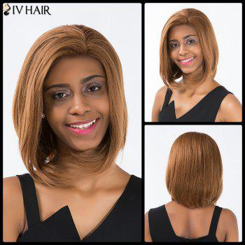 Siv Hair Short Straight Oblique Bang Bob Lace Front Human Hair Wig