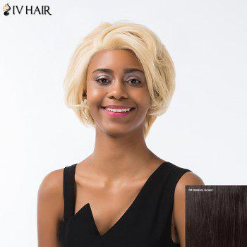 Siv Hair Short Layered Cut Fluffy Lace Front Human Hair Wig