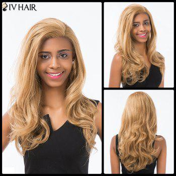 Siv Hair Long Wavy Side Parting Lace Front Human Hair Wig