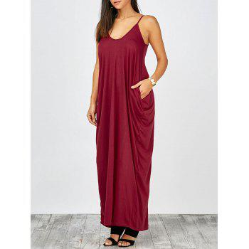 V Neck Loose Fit Maxi Dress