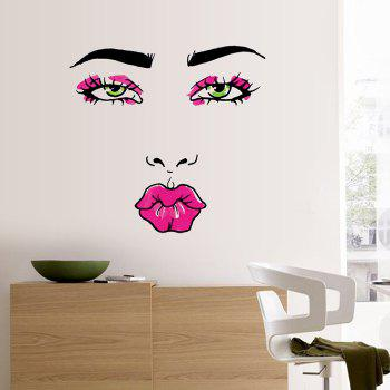 Pretty Pout Pattern Wall Sticker