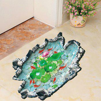 Chinese Style Fishpond 3D Wall Sticker