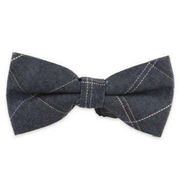 Dashed Line Plaid Formal Bow Tie
