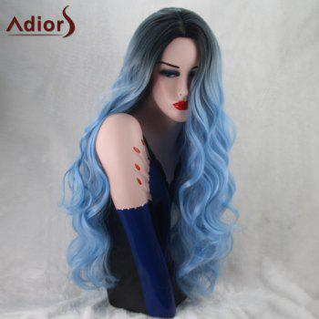 Adiors Wavy Long Gradient Middle Part Capless Synthetic Wig