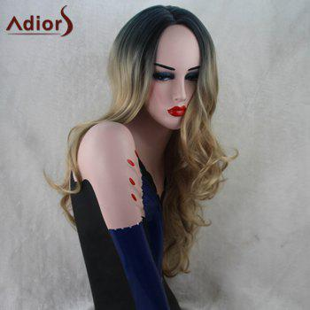 Adiors Long Gradient Wavy Middle Part Synthetic Wig