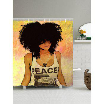 Hip Hop Afro Hair Girl Shower Curtain