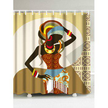 Ethnic Style Women Printd Polyester Shower Curtain