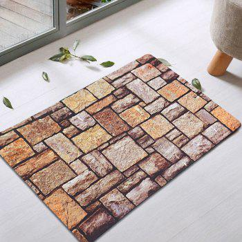 Retro Brick Absorbent Rubber Indoor Rug