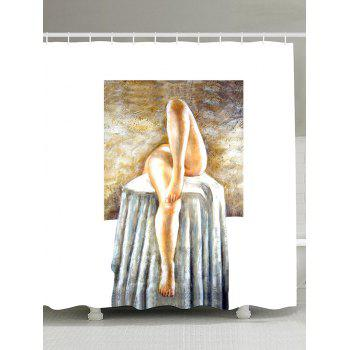 Artistic Shower Curtain with Hooks Bathroom Decor