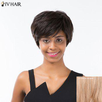 Siv Hair Short Layered Haircut Side Bang Fluffy Capless Human Hair Wig