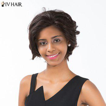 Siv Hair Short Layered Cut Curled Lace Front Human Hair Wig
