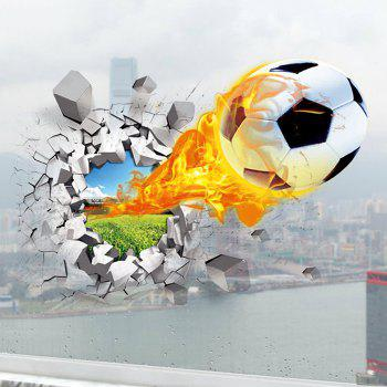 Football On Fire 3D Wall Sticker