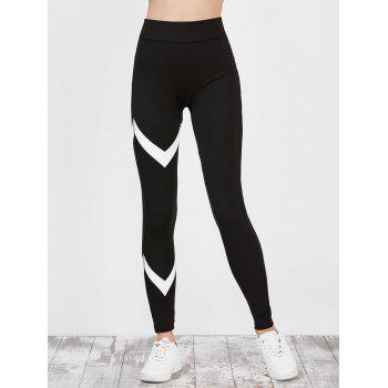 High Waist Zigzag Panel Fitness Leggings