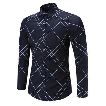 Turndown Collar Check Shirt