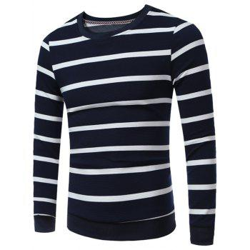 Crew Neck Stripes Sweatshirt