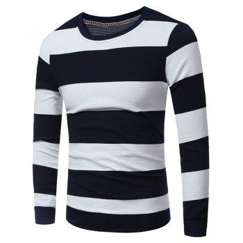 Stripes Crew Neck Sweatshirt