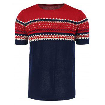 Graphic Crew Neck Short Sleeve Jumper